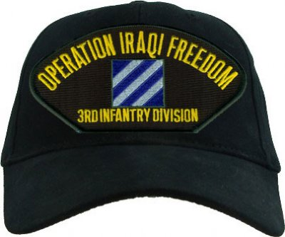 3RD INFANTRY DIVISION  IRAQI FREEDOM Emblematic Cap