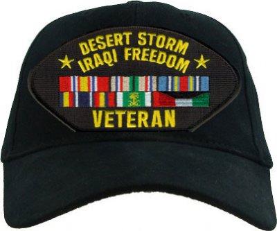 Desert Storm Iraqi Freedom Veteran Ball Cap